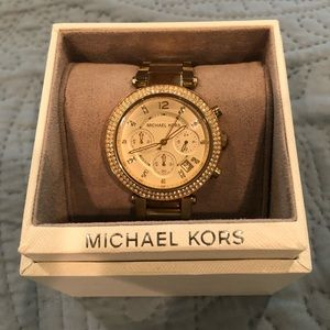 Michael Kors Parker Gold Watch